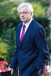 Downing Street, London, October 11th 2016. Government ministers arrive for the first post-conference cabinet meeting. PICTURED: Secretary of State for Exiting the European Union David Davis