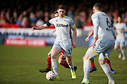 Derby County midfielder George Evans (17)  during the The FA Cup fourth round match between Accrington Stanley and Derby County at the Fraser Eagle Stadium, Accrington, England on 26 January 2019.