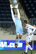 13 December 2013: Notre Dame's Patrick Wall (1). The University of Notre Dame Fighting Irish played the University of New Mexico Lobos at PPL Park in Chester, Pennsylvania in a 2013 NCAA Division I Men's College Cup semifinal match. Notre Dame won the game 2-0.