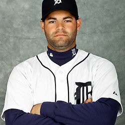 February 28, 2012; Lakeland, FL, USA; Detroit Tigers catcher Alex Avila (13) poses for photo day in the rec room at the Detroit Tigers Headquarters.  Mandatory Credit: Derick E. Hingle-US PRESSWIRE