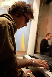 ILIR ZEFI - Paintingjazz-in - performance at Sala Santa Rita - Rome