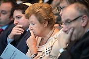 UNITED KINGDOM, London: 26 January 2016 Guests listen to Holocaust survivor Hannah Lewis tell her story in The Chamber of City Hall during a memorial service to remember victims of the Holocaust this morning. The Mayor of London, Boris Johnson, joined members of the London Assembly as well as Holocaust survivors to mark 71 years since the liberation of Auschwitz-Birkenau and to pay tribute to victims of other subsequent genocides. Rick Findler / Story Picture Agency