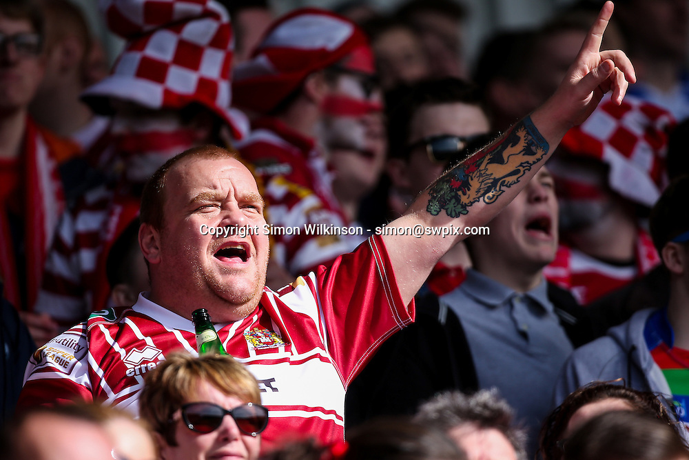 Picture by Alex Whitehead/SWpix.com - 25/03/2016 - Rugby League - First Utility Super League - St Helens v Wigan Warriors - Langtree Park, St Helens, England - Wigan fan.