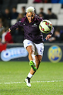Lianne Sanderson of England Women warms up before the International Friendly match at stadium:mk, Milton Keynes<br /> Picture by David Horn/Focus Images Ltd +44 7545 970036<br /> 13/02/2015