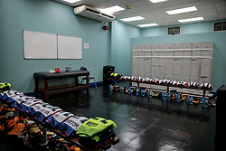October 10, 2017 - Couva, Caroni County, Trinidad & Tobago - Couva, Trinidad & Tobago - Tuesday Oct. 10, 2017: USMNT locker room during a 2018 FIFA World Cup Qualifier between the men's national teams of the United States (USA) and Trinidad & Tobago (TRI) at Ato Boldon Stadium. (Credit Image: © John Dorton/ISIPhotos via ZUMA Wire)