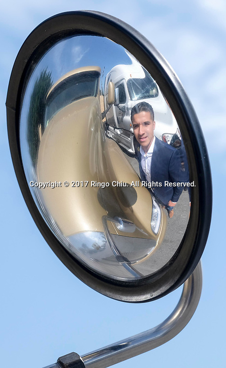 Francisco Franco, founder and president, Franco Trucking Inc..(Photo by Ringo Chiu)<br /> <br /> Usage Notes: This content is intended for editorial use only. For other uses, additional clearances may be required.