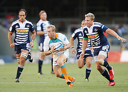 Sarel Pretorius secures the ball with Jean de Villiers hot on his heels during the Super Rugby (Super 15) fixture between the DHL Stormers and the Cheetahs held at DHL Newlands Stadium in Cape Town, South Africa on 26 February 2011. Photo by Jacques Rossouw/SPORTZPICS