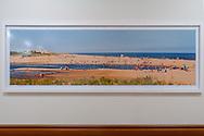 """Art Work Peconic Bay Medical Center, 26""""x92"""" with 2"""" white border Frame Frame 30""""X96""""Omega Frame 80741"""
