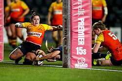 Lucy Lockhart of Worcester Warriors Women scores a try - Mandatory by-line: Robbie Stephenson/JMP - 11/01/2020 - RUGBY - Sixways Stadium - Worcester, England - Worcester Warriors Women v Richmond Women - Tyrrells Premier 15s