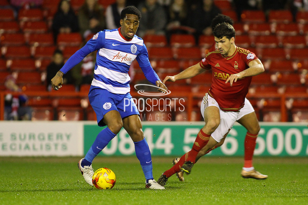 QPR midfielder Leroy Fer on the ball during the Sky Bet Championship match between Nottingham Forest and Queens Park Rangers at the City Ground, Nottingham, England on 26 January 2016. Photo by Aaron Lupton.