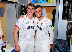 Tom Abell and Ryan Davies of Somerset pose for a photo.  - Mandatory by-line: Alex Davidson/JMP - 22/09/2016 - CRICKET - Cooper Associates County Ground - Taunton, United Kingdom - Somerset v Nottinghamshire - Specsavers County Championship Division One