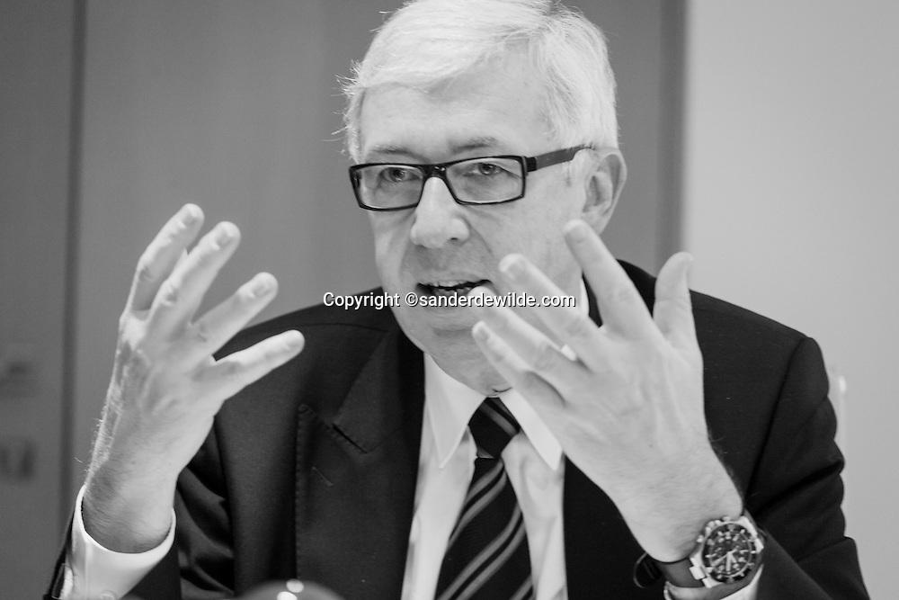 Rudi Thomaes, head of FEB, Federation of Enterprises in Belgium, 2011-01-10 Brussels ©sanderdewilde.com