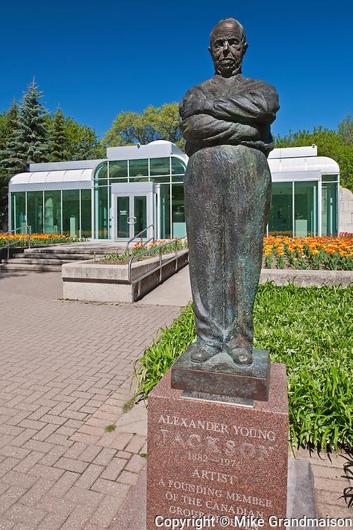 Bronze sculptures in the Leo Mol Sculpture Garden in Assiniboine Park<br /> Winnipeg<br /> Manitoba<br /> Canada