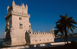 PORTUGAL LISBON MAY99 - The Torre de Belem, guarding the entrance to the port of Lisbon.....jre/Photo by Jiri Rezac....© Jiri Rezac 1999....Tel:   +44 (0) 7050 110 417..Email: info@jirirezac.com..Web:   www.jirirezac.com