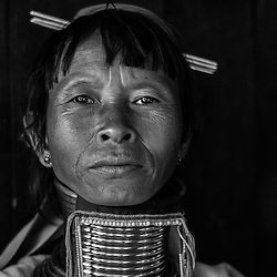 Myanmar - The  Padaung (Black & White)