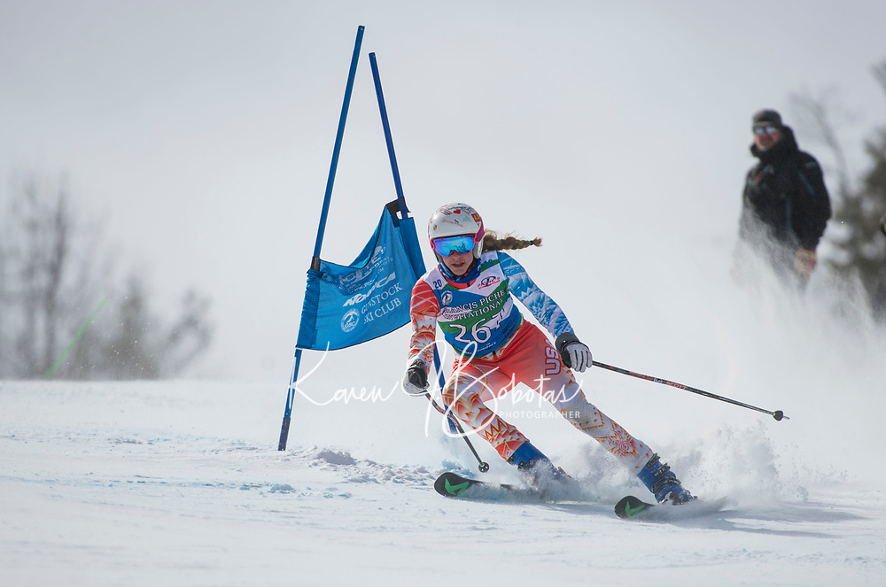 Piche Invitational U14 ladies second run 17Mar18.  ©2018 Karen Bobotas Photographer