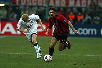 Milan 08-03-2005<br />Champions League 2004-2005<br />Milan Manchester United<br />nella  foto Rui Costa Sholes<br />Foto Snapshot / Graffiti
