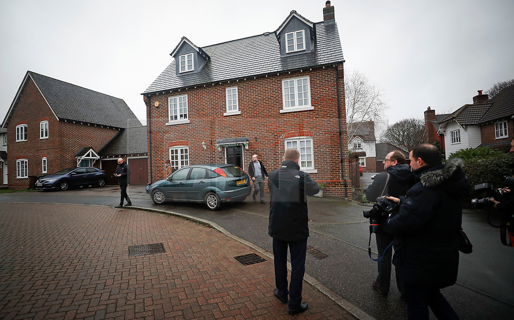 © Licensed to London News Pictures. 15/01/2018. Maidstone, UK. Media wait outside the family home of UKIP activist Jo Marney in Kent. UKIP party leader Henry Bolton has said he is no longer in a relationship with Ms Marney. Mr Bolton is under pressure after his partner, glamour model Jo Marney, wrote offensive text messages to friend. She has been suspended from the party. Photo credit: Peter Macdiarmid/LNP
