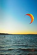 Kite-boarding on White bear Lake, MN
