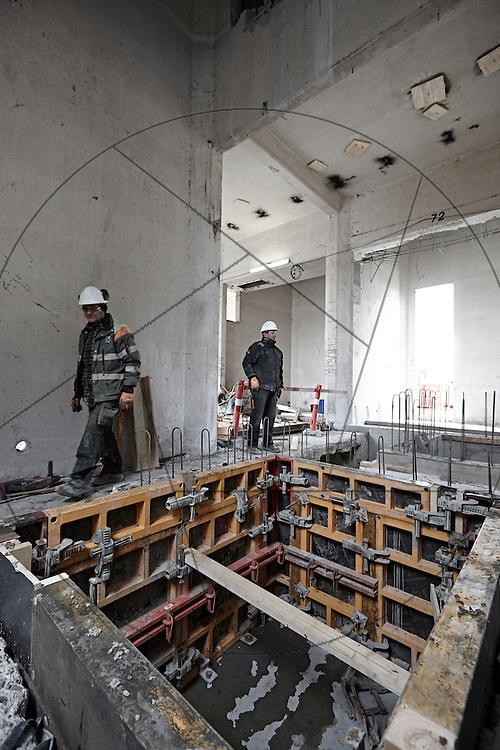 DLG-siloen Nordhavn, Unionkul, ombygning af kornsilo til luksuslejligheder, Klaus Kastbjerg, betonstøbning, cementstøbning, afstivning,