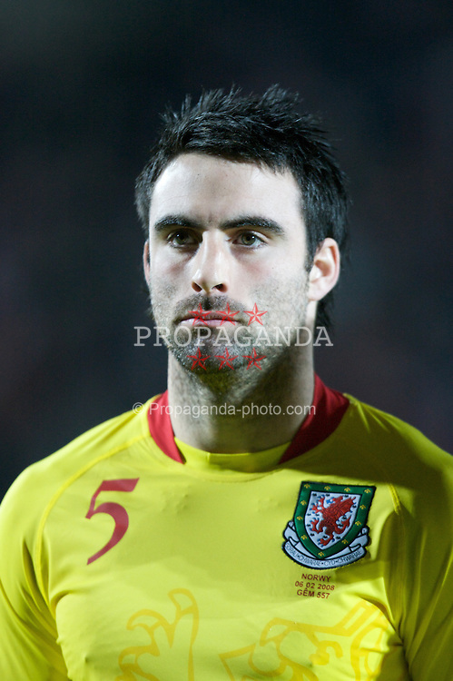 WREXHAM, WALES - Wednesday, February 6, 2008: Wales' Craig Morgan before the international friendly match against Norway at the Racecourse Ground. (Photo by David Rawcliffe/Propaganda)