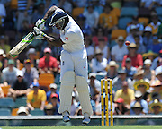 "Michael Carberry plays behind the wicket before lunch on Day 2 of the 1st Test in the 2013-14 Ashes Cricket Series between Australia and England at the GABBA (Brisbane, Australia) from Thursday 21st November 2013<br /> <br /> Conditions of Use : NO AGENTS ~ This image is subject to copyright and use conditions stipulated by Cricket Australia.  This image is intended for Editorial use only (news or commentary, print or electronic) - Required Image Credit : ""Steven Hight - AURA Images"""