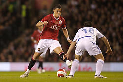 Manchester, England - Tuesday, March 13, 2007: Manchester United's Christiano Ronaldo in action against a Europe XI during the UEFA Celebration Match at Old Trafford. (Pic by David Rawcliffe/Propaganda)
