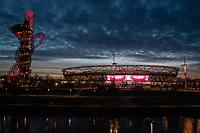 Football - 2019 / 2020 Premier League - West Ham United vs. Liverpool<br /> <br /> A general view, outside The London Stadium.<br /> <br /> COLORSPORT/ASHLEY WESTERN