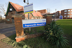 © London News Pictures. 27/12/2011. Papworth Everard, UK.  Papworth Hospital in Papworth Everard, Cambridgeshire on December 27th, 2011  where Prince Philip underwent heart surgery. Photo credit : Ben Cawthra/LNP