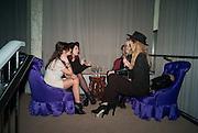 SARA-ELLA OSBEK; KELLY DEENE; CHLOE HAYWARD, NME Awards after-party. Sanderson Hotel. 29 February 2012