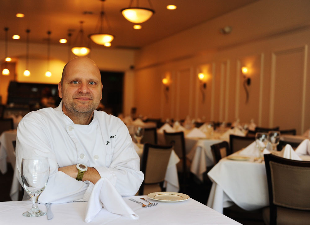 Chris Dupont, chef and owner of Cafe Dupont, sits in his restaurant on January 13, 2009.<br /> <br /> Birmingham News/Emma Tannenbaum