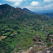 Panoramic view of Tepozteco mountains.