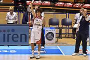 DESCRIZIONE : Supercoppa 2015 Semifinale Banco di Sardegna Sassari - Grissin Bon Reggio Emilia<br /> GIOCATORE : Amedeo Della Valle<br /> CATEGORIA : cambio<br /> SQUADRA : Grissin Bon Reggio Emilia<br /> EVENTO : Supercoppa 2015<br /> GARA : Banco di Sardegna Sassari - Grissin Bon Reggio Emilia<br /> DATA : 26/09/2015<br /> SPORT : Pallacanestro <br /> AUTORE : Agenzia Ciamillo-Castoria/GiulioCiamillo