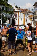 Tiradentes_MG, Brasil...Folioes no carnaval de Tiradentes...The tourists in Tiradentes carnival...Foto: LEO DRUMOND /  NITRO