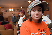 18537Students volunteering at a local church in Mineral, Ohio during MLK Day on January 21, 2008.\