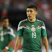 Oribe Peralta, Mexico in action during the Portugal V Mexico International Friendly match in preparation for the 2014 FIFA World Cup in Brazil. Gillette Stadium, Boston (Foxborough), Massachusetts, USA. 6th June 2014. Photo Tim Clayton