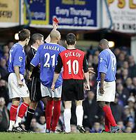 Fotball<br /> Premier League 2004/05<br /> Portsmouth v Blackburn<br /> 15. januar 2005<br /> Foto: Digitalsport<br /> NORWAY ONLY<br /> LUA LUA gets the red card in the second half