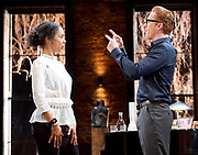Edward Albee&rsquo;s The Goat or Who is Sylvia <br /> production by Ian Rickson <br /> at The Theatre Royal Haymarket London, Great Britain <br /> 30th March 2017 <br /> press photocall <br /> <br /> <br /> Damian Lewis as Martin  <br /> Sophie Okonedo as Stevie <br /> <br /> <br /> Photograph by Elliott Franks <br /> Image licensed to Elliott Franks Photography Services