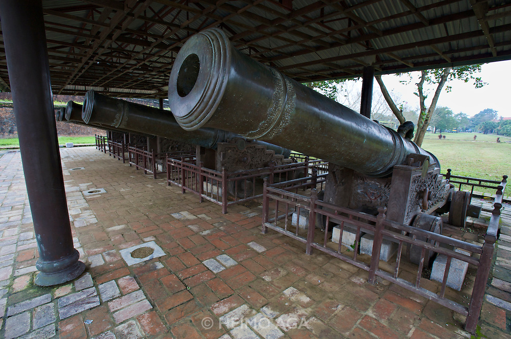 The Citadel. Five of the Nine Holy Cannons, representing the five elements metal, wood, water, fire and earth.
