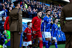 Josh Brownhill of Bristol City leads his side out at Cardiff City - Mandatory by-line: Robbie Stephenson/JMP - 10/11/2019 -  FOOTBALL - Cardiff City Stadium - Cardiff, Wales -  Cardiff City v Bristol City - Sky Bet Championship