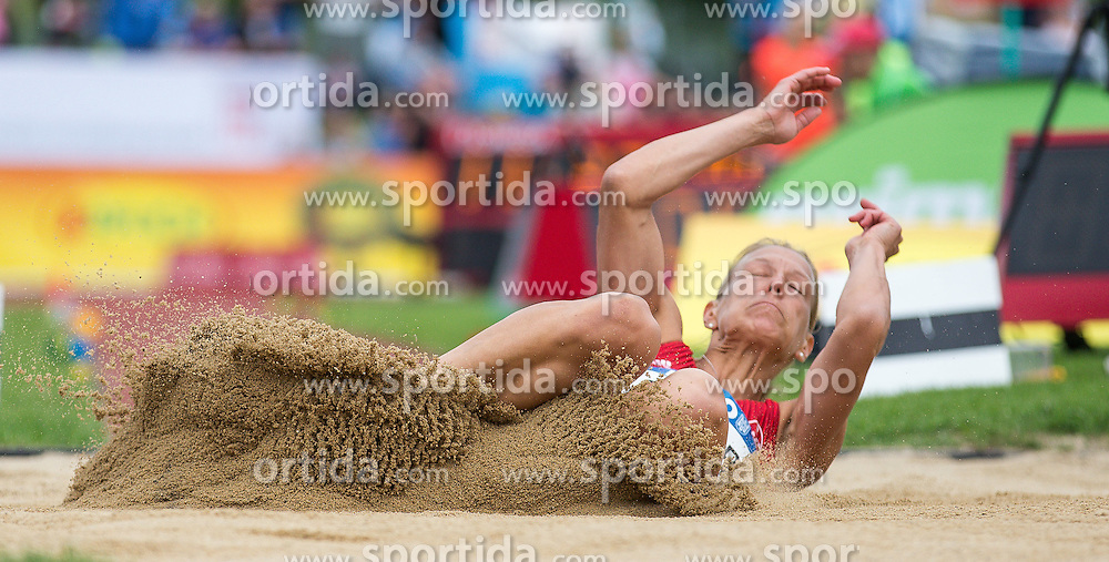 29.05.2016, Moeslestadion, Goetzis, AUT, 42. Hypo Meeting Goetzis 2016, Siebenkampf der Frauen, Weitsprung, im Bild Jennifer Oeser (GER) // Jennifer Oeser of Germany in action during the long jump event of the Heptathlon competition at the 42th Hypo Meeting at the Moeslestadion in Goetzis, Austria on 2016/05/29. EXPA Pictures © 2016, PhotoCredit: EXPA/ Peter Rinderer