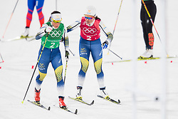 February 17, 2018 - Pyeongchang, SOUTH KOREA - 180217 Anna Haag and Charlotte Kalla of Sweden  competes in WomenÃ•s Cross Country Skiing 4x5 km Relay during day eight of the 2018 Winter Olympics on February 17, 2018 in Pyeongchang..Photo: Petter Arvidson / BILDBYRN / kod PA / 87632 (Credit Image: © Petter Arvidson/Bildbyran via ZUMA Press)