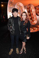LUKE FRANKS and ARIELLE FREE at the Warner Music Group & Ciroc Vodka Brit Awards After Party held at The Freemason's Hall, 60 Great Queen St, London on 24th February 2016.