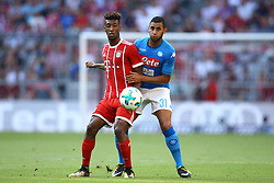 August 2, 2017 - Munich, Germany - Kingsley Coman of Bayern and Faouzi Ghoulam of Napoli during the Audi Cup 2017 match between SSC Napoli v FC Bayern Muenchen at Allianz Arena on August 2, 2017 in Munich, Germany. (Credit Image: © Matteo Ciambelli/NurPhoto via ZUMA Press)