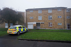© London News Pictures. 12/11/2011. Reading, UK. A flat on Coronation Square in Reading, Berkshire sealed off by police today (12/11/2011) where the body of a 38-year-old woman was found. A 46-year-old man is currently in police custody after he handed himself into a police station and pointed detectives to the body . Photo Credit : Ben Cawthra/LNP