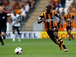 Hull City's Sone Aluko  - Photo mandatory by-line: Matt Bunn/JMP - Tel: Mobile: 07966 386802 24/08/2013 - SPORT - FOOTBALL - KC Stadium - Hull -  Hull City V Norwich City - Barclays Premier League
