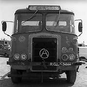 Atkinson circus van, Glastonbury, Somerset, 1989