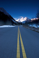 Two-Lane Road Leading up to Maroon Bells, White River National Forest, Colorado