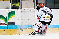 26.12.2013, Hostan Arena, Zneim, CZE, EBEL, HC Orli Znojmo vs EHC Black Wings Linz, 58. Runde, im Bild Jiri Beroun (HC Orli Znojmo #30) Daniel Oberkofler (Linz #74) // Jiri Beroun (HC Orli Znojmo #30) Daniel Oberkofler (Linz #74) during the Erste Bank Icehockey League 58th round match between HC Orli Znojmo and EHC Black Wings Linz at the Hostan Arena in Zneim, Czech Republic on 2013/12/26. EXPA Pictures © 2013, PhotoCredit: EXPA/ Rostislav Pfeffer