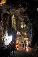 Stairs leading down into Huyen Khong Cave on Nhuyen Son Mountain, Da Nang, Vietnam